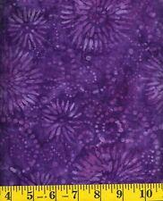 Wilmington Flower Burst Batik 22188-660 Flowers & Swirls on Purple 1/2 yd