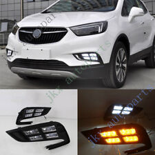 LED DRL Daytime Running Lamp White+Yellow k For Buick Encore/Opel Mokka 16-18