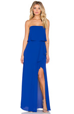 $298 BCBG Royal Blue Felicity Strapless Gown Prom Dress Sz 8 M Medium 6 S Small