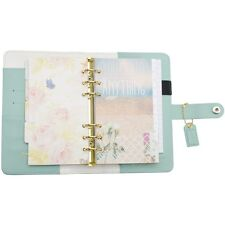 Webster's Pages Color Crush A2 Faux Leather Personal Planner Kit-Light Teal NEW