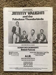 JIMMIE VAUGHN AND TJE FABULOUS THUNDERBIRDS CONCERT FLYER