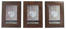 3 er Set Fotorahmen Bilderrahmen 10 x 15 cm Kunststoff Holzdekor mit Glas Nr.397