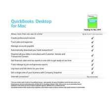 Intuit Quickbooks Desktop for Mac 2019 Pack of 3 Organize your Business