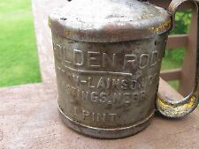 Old Vintage Collectible Golden Rod 1 Pint Oil Can Oiler Dutton Lainson & Company