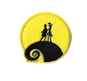 Jack and Sally - Full Moon - Nightmare Before Christmas - Iron On Patch