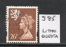SG S85 26p Scotland Machin - Litho Questa - Fine Used Glasgow CDS