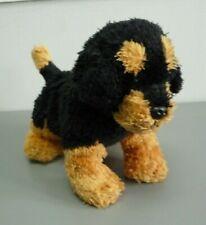 "TY Beanie Babies BRUTUS Black Rottweiler Doberman Dog Soft Plush Toy 20cm 8"""