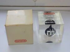 1984 CONOCO PROMOTIONAL PAPERWEIGHT FIRST OIL DROP FROM HUTTON FIELD PLATFORM