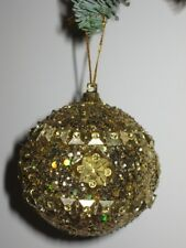 6er Set Bolas de Navidad Decoración para Árbol 6,5 cm Dorado Nr.00099 Nuevo