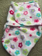 Baby Girls Pink Cozy Plush Flower Swaddle Wrap Sooo Soft!