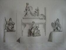 Grande gravure de la Statue du Cardinal Jules MAZARIN