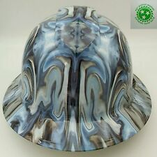 FULL BRIM Hard Hat custom hydro dipped , NEW ILLUSTRATED SYCHADELIC  CHROME DOME