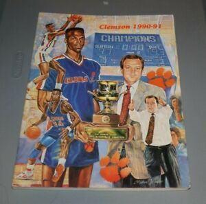 1990-91 1991 CLEMSON BASKETBALL YEARBOOK EXCELLENT CONDITION