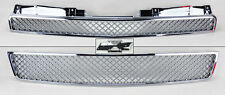 Chevy Tahoe Suburban Avalanche 07-14 Front Mesh Chrome Hood Bumper Grill