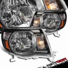 Fit 2005 2006 2007 2008 2009 2010 Toyota Tacoma Black Headlights Head Lamps Pair