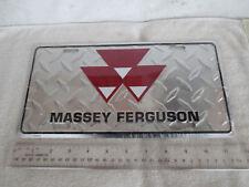 NEW MASSEY FERGUSON FARM TRACTOR EQUIPMENT SIGN LICENSE PLATE DIAMOND PLATED