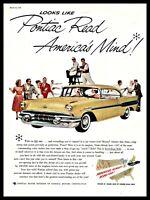 1957 PONTIAC Super Chief 2-door Hardtop Coupe Vintage Classic Car AD