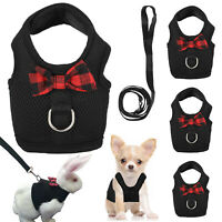 Rabbit Harness Leash Set Hamster Cats Ferrets Squirrel Vest Small Puppy Dog Gift