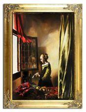 Jan Vermeer--84x63cm-Ölgemälde mit Rahmen-G17113
