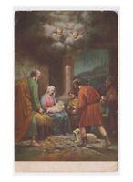 1925 Mantis Vintage Card Fp Degami Nativity Holy Family Shepherd Putti