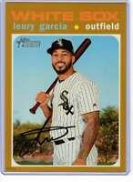 Leury Garcia 2020 Topps Heritage 5x7 Gold #189 /10 White Sox