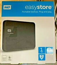 WD - Easystore 1TB External USB 3.0 Portable Hard Drive - Black