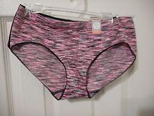 Women's Flirtitude 2 Pack Hipster Panties Black & Pink Size X-Large NEW