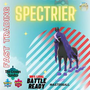 POKEMON SWORD & SHIELD SPECTRIER + MASTERBALL CROWN TUNDRA DLC TRADING NOW