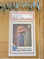 🔥 2019 OPTIC PRIZM WHITE SPARKLE ZION WILLIAMSON RC #158 MINT PSA 9 POP 1 🔥