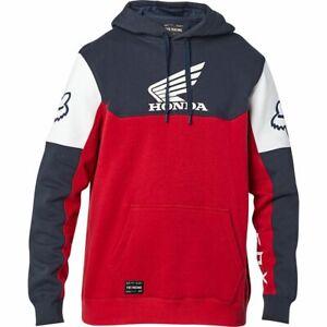 Fox Racing Official Honda Pullover Fleece Mens 2XL Navy / Red Hoodie 25956-248