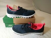 "NEW Womens Skechers Go Walk 2 Sugar Golf Shoes Navy/Pink 14880 ""6"" NIB sale"