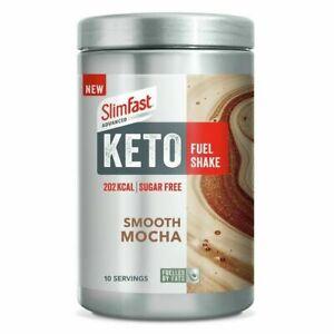 1 x tub SlimFast Advanced Keto Fuel Shake Smooth Mocha 350g