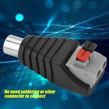 10 Pcs Speaker RCA Male Plug to AV 2 Screw Terminal Female Audio / Video Adapter