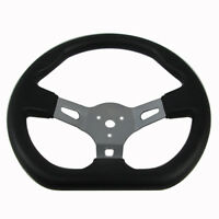 Go-Kart Steering Wheel with Cap & Flat Side for Kandi Go-Karts