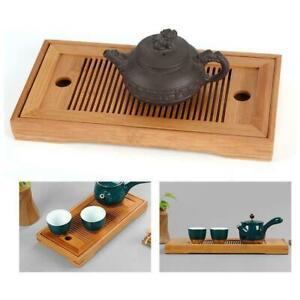 1XBamboo Tea Trays Kung Fu Tea Accessories Tea Tray Rack Drain With NEW Q5F4