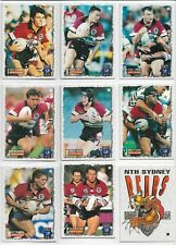 DYNAMIC 1995 SERIES 2 RUGBY LEAGUE CARDS NORTH SYDNEY BEARS BASE SET (9)