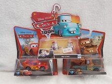 "disney pixar cars  "" lightning mcqueen""""mater"" ""teki & paki "" all on sealed card"