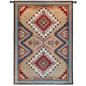 76x53 BRAZOS Southwest Western Native American Tapestry Wall Hanging