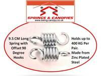 2 x Heavy duty suspension hooks or springs for 2-3 seat Garden Swing hammock