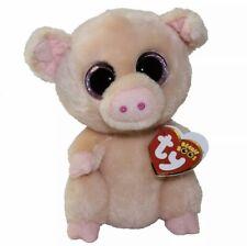 "ty beanie boos Piggley Pig Plush 6"" Stuffed Animal Pink Big Eyes New Mint"