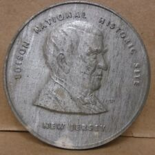 Edison national historic site new jersey white metal medal electricity