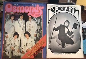 Osmonds' World Magazine + Spotlight Supplement - January 1974
