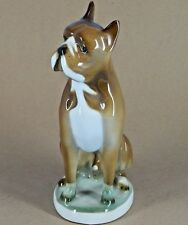 Zsolnay Pecs Made in Hungary Boxer Dog Porcelain Figurine