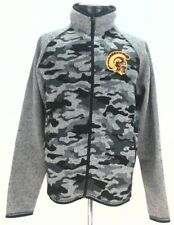 USC Trojans Univ Southern CA Camo Full Zip Sweater Jacket Fleece Small New $85