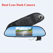 """5"""" HD Dual Lens Car Video Recorder Dash Cam with Rear View Camera Night Vision"""
