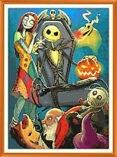 Nightmare JACK e Sally cross stitch chart x 12.0 x 8.5 in (ca. 21.59 cm)