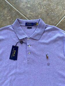 Polo Ralph Lauren Cotton Interlock Shirt XL Purple Heather w/Pony Classic NWT