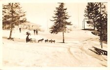 Cable WI Four Canine Dogsled~Snow-Sitters~Lakewoods Country Club RPPC
