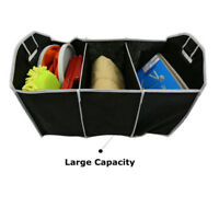 New Cargo Car Trunk Organizer Collapsible Folding Auto Storage Bin Bag Black Box