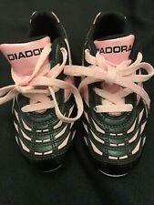Diadora Youth Girls Soccer Cleats  Pink & Black Sz9 Little Girl Free Shipping
